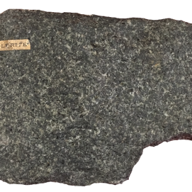 Dolerite. An intermediate igneous plutonic rock often found in minor intrusions and dykes.