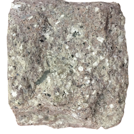 Rhyolite. A pale acidic lava which cooled rapidly. Silurian (420Ma), Dingle Peninsula, Co. Kerry